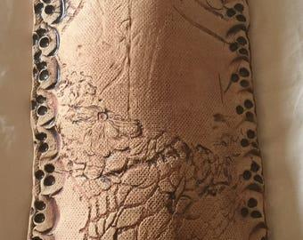 Black creek pottery wall pocket floral