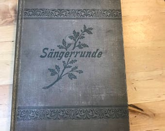 Antique music book / german music book / 1800's book / vintage song book