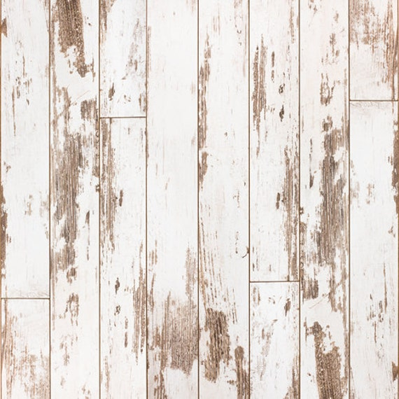 Weathered White Painted Wood Backdrop Vinyl Photography Portrait Background Peeling Distressed Planks Floordrop For Newborns D 7619