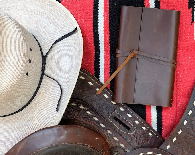 Leather Refillable Notebook/Journal Cover and Card Case