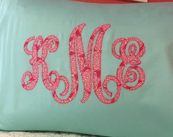 Monogrammed Pillowcase Personalized Home Decor