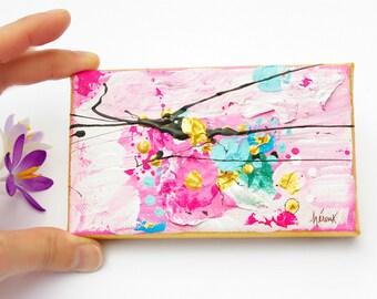 "Mini art painting Mini art painting Miniature artwork on canvas little paintings Original Mini art on canvas, 3x5"""