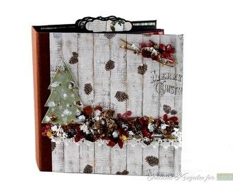 Christmas Scrapbook Mini Album, Handmade, Homemade, Handgemachtes Album, Memory Album, Photo Mini Album, Keepsake Mini Album