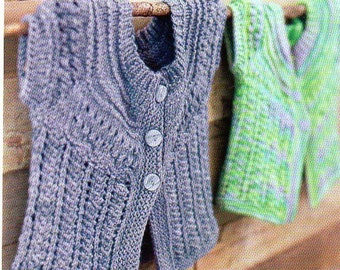 Baby Cardigan Sweater Knitting Pattern Infant Toddler Cardigan Sweater Knitting Patterns Sizes 6-24 Months PDF Instant Download