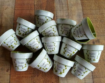 Baby Shower Favors - Painted Flower Pots