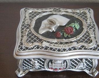 "Vintage ""Phantom Of The Opera"" Music Box / Jewelry Box, San Francisco Music Box Co. 1986"