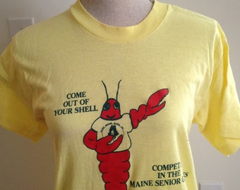 Vintage Maine Lobster Senior Games 90s Tshirt