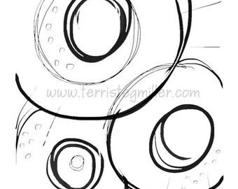 Thermofax Screen - Partial Circles