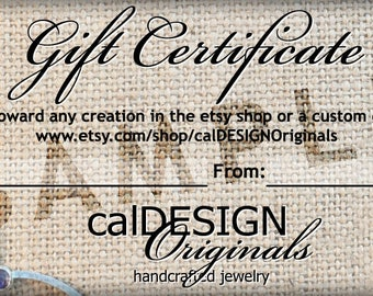 calDESIGN Originals Gift Certificate 50