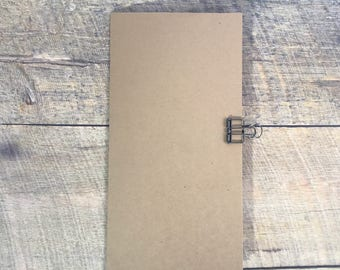 Kraft Travelers Notebook Insert - Midori Insert - Planning Insert - Neutral Color - Scrapbook Insert - Art Journal Insert - Various Sizes