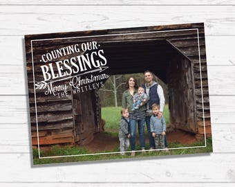 Counting Our Blessings Christmas Card | Arrow
