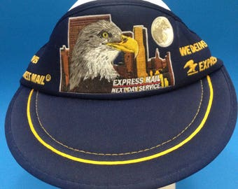 Vintage US Mail Trucker Visor Adjustable Strapback Hat 1980s Eagle
