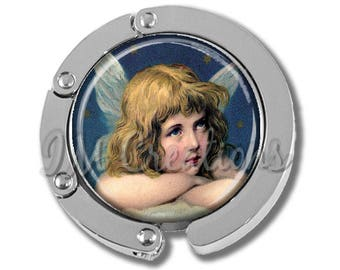 Foldable Bag Purse Hook - Victorian Guardian Angel FHK193