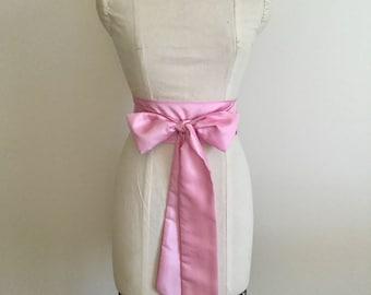 Pink Bridal Sash - Bridal Sash Belt - Bridal Sash Bow.