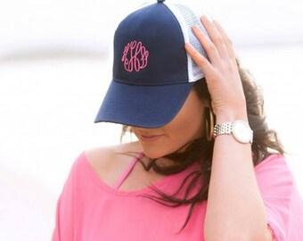 Personalized Trucker Hat, Monogrammed Trucker Hat, Custom Trucker Hat, Momogram Hat, Great Quality, Monogram Cap, Trucker Hat