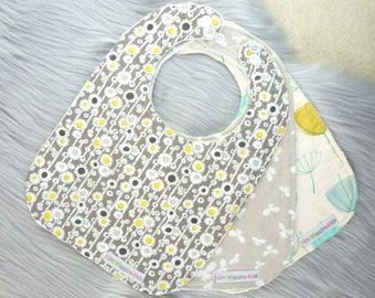 Baby Bibs Set of 3, Baby Girl Gift, Baby Shower Gift, New Mums - Flowers