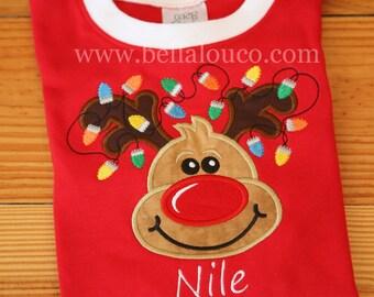 Christmas Pajamas, Children Pajamas, Family Pajamas, Appliqued