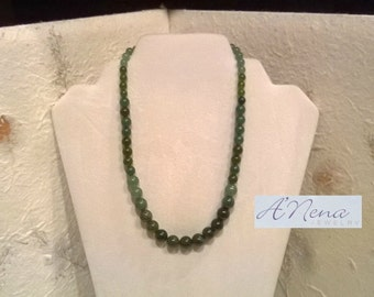 "Unisex Necklace: Fancy Jasper and Aventurine ""Relaxing and Prosperous"""