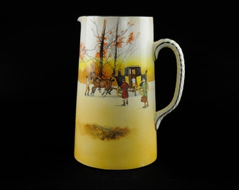 Royal Doulton Coaching Days D2716 Scene 13 Corinth Jug