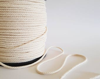 4mm Macrame rope 50m Braided cotton rope 5 /32 in Macrame material Cotton cord. Macrame cord.