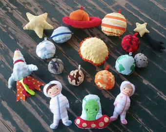 Plush Stuffed Solar System Play Set , Available in 3 sizes , Sold as Individual Planets and Pieces