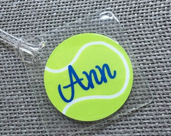 Tennis Bag Tag Sport Bag Tag Tennis Party Favor Tennis Gift Tag Tennis Gift Personalized Tennis Themed Gift Custom Tennis Bag Tag Tennis Tag