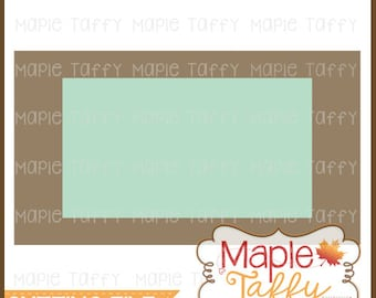 Double Rectangle SVG and DXF cutting file for names and monograms