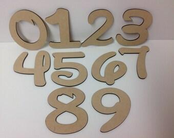 Disney Font Wood Numbers