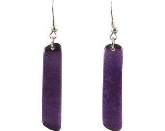 Retazos Tagua Dangle Earrings Eco Friendly Sustainable Earrings