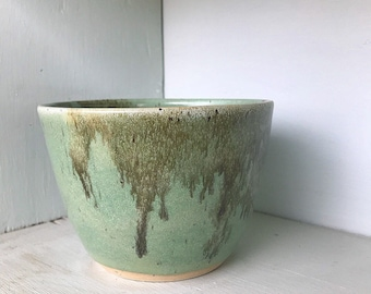 Green and Gold Planter