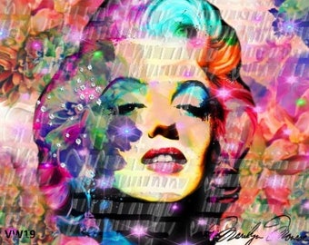 Pop Art Marilyn Monroe Fabric Panel Crafts, Quilts, Sewing Cotton Material VW19