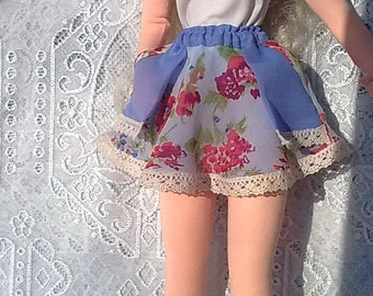 "Double skirt with pockets for any 1/3 bjd & FR 24""/60cm body and similar size dolls (Tonner, Sybarite, Avantguards, etc)"