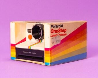 Polaroid One Step Rainbow Stripe SX-70 Instant Film Camera