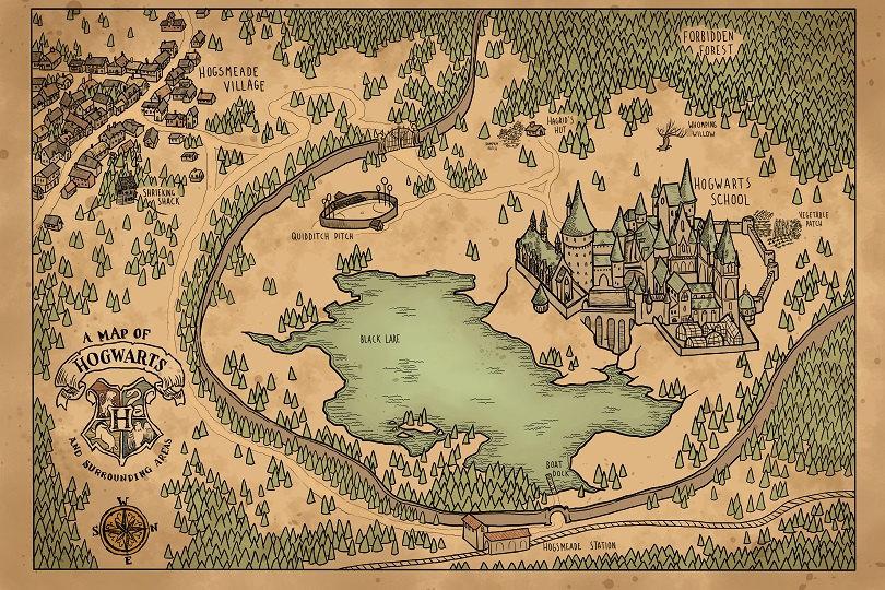 Image Result For Hogwarts Map