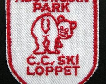 Small ALGONQUIN PARK CC Ski Loppet souvenir travel patch embroidered sew on Crest patch vintage