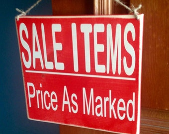 8x8 Sale Items Price As Marked (Choose Color) Shabby Chic Wood Sign