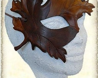 Custom made, Leather leaf mask