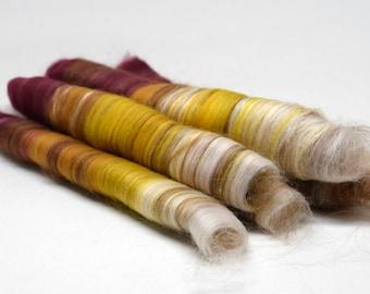 Lux skinny rolags | SIMBA | 50g | merino, baby alpaca, tussah silk