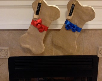 Dog Bone Stocking, Dog Stockings, Christmas Stockings for Dogs, Personalized Christmas Stockings for Dogs, Christmas, Dog Gift, Pet Stocking