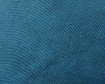 "SALE Basque Blue Featherwale Corduroy Fabric  --  44""/45"""" Wide"