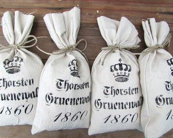 German Feedsack Style Gift Bags....set of four