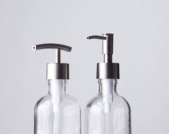 Soap Dispenser Set With Caddy | Glass Soap Dispenser With Metal Soap Pump  Set W/ Metal Stand