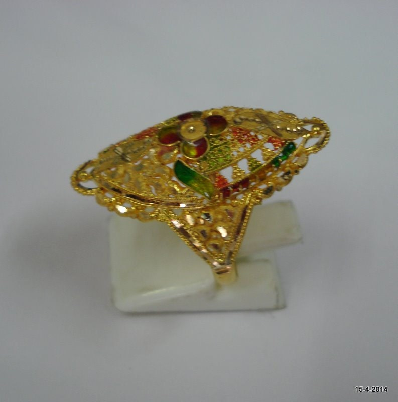gold ring handmade jewelry traditional design