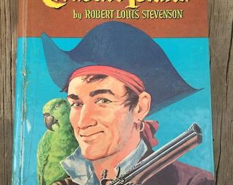 Treasure Island Whitman Robert Louis Stevenson 1955 Long John Silver Buccaneers Buried Gold Treasure Map Pirates Peg Leg Parrot Treasure Map
