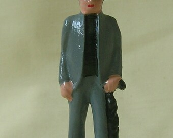 "Minister, Preacher or Parson, 2-1/4"" model train layout figure, hand-painted reproduction of vintage cast iron toy"