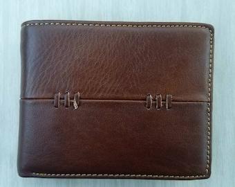 Men's leather wallet bi-fold