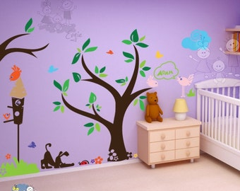 Children Wall Decal Wall Sticker Nursery Decals - In the Yard Playroom with Custom Name - PLYR020
