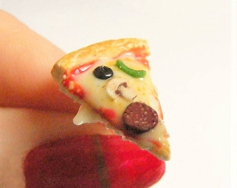 Food Jewelry Pizza Earrings, Slice of Pizza Earrings, Pizza Jewelry, Miniature Food, Mini Food, Food Earrings, Pizza Charm Polymer Clay Food