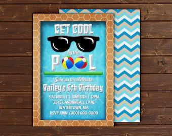 Custom Pool Party Birthday/Event Invitation Card - 5x7 or 4x6