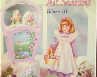 """Folk Art 1997 Decorative book """" Eggs For All Seasons"""" by Frony Ritter CDA 44 pages used book"""